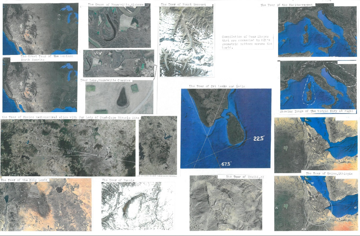 Geological Tear Shapes of Earth and God's Pattern 1