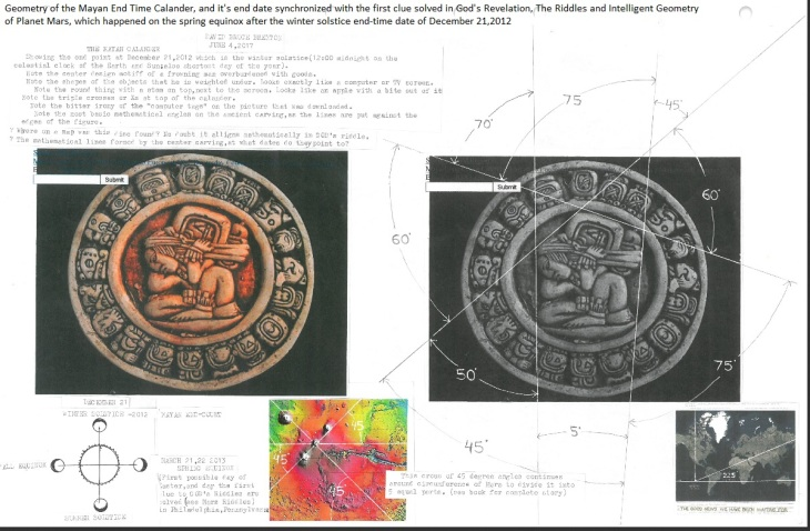 Geometry of Mayan End Time Calendar 1