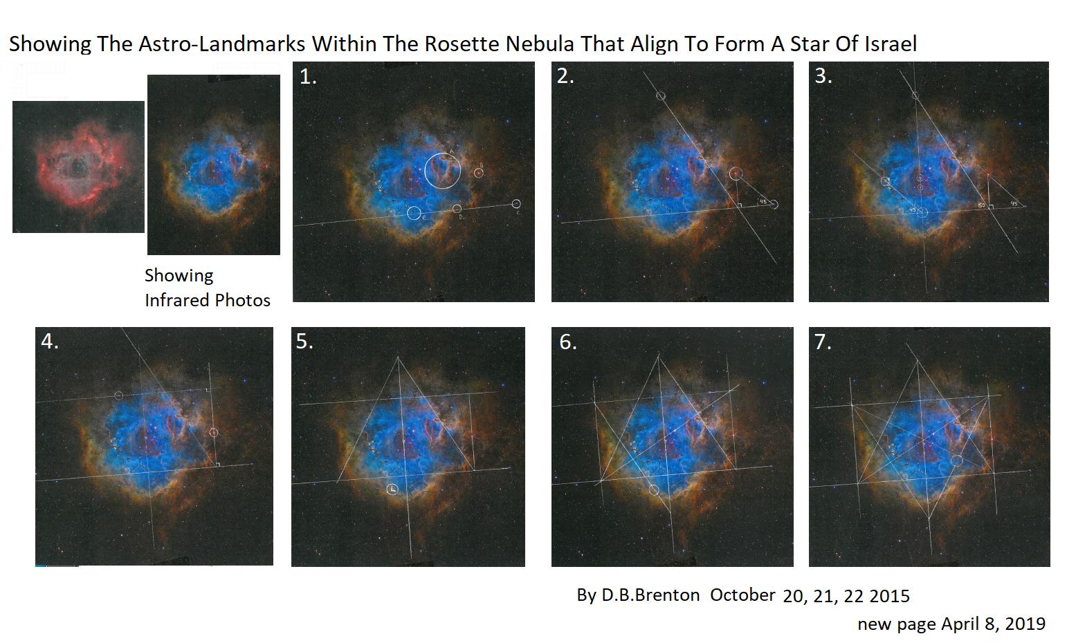 Rosette Nebula Star Of Israel