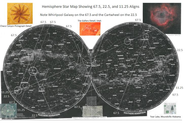 Star Map 67.5 n 22.5