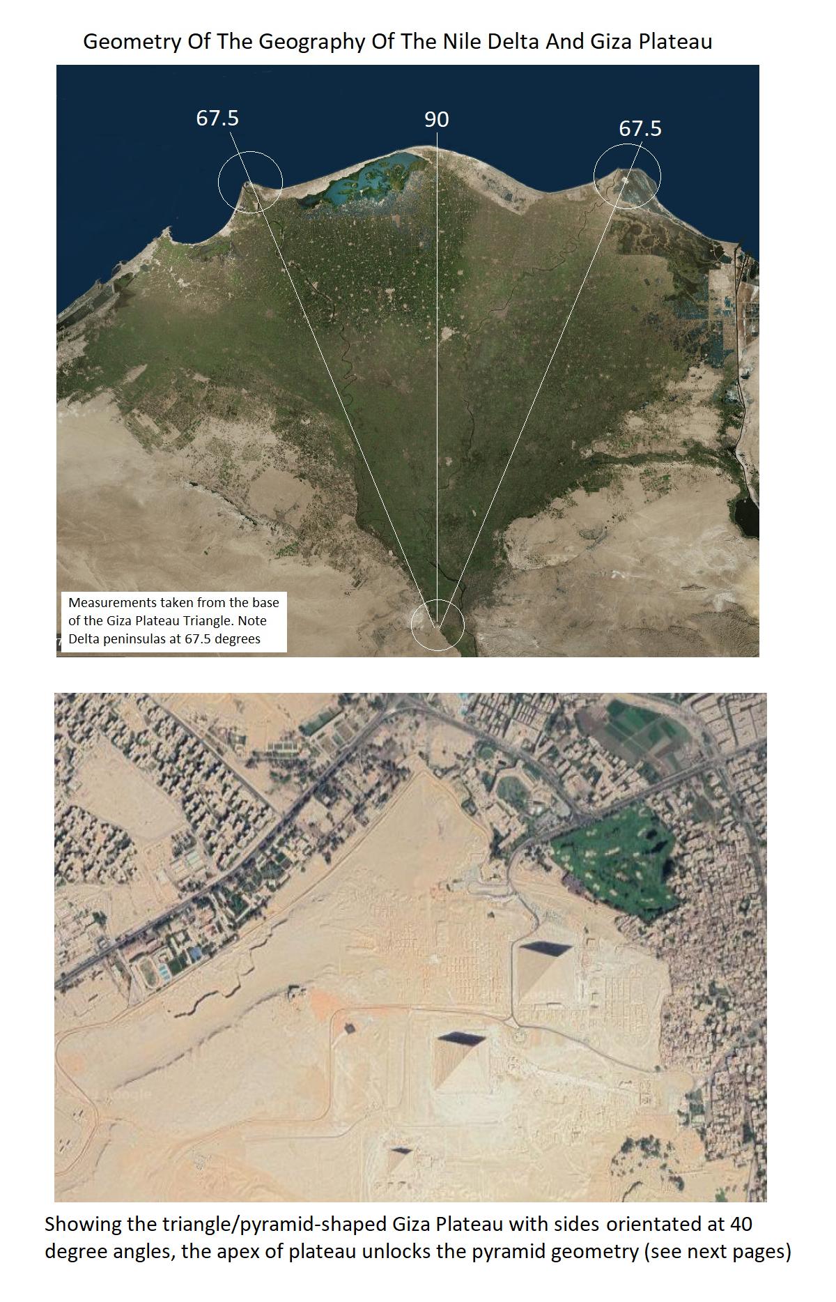 Giza and Nile Delta Geometry 1