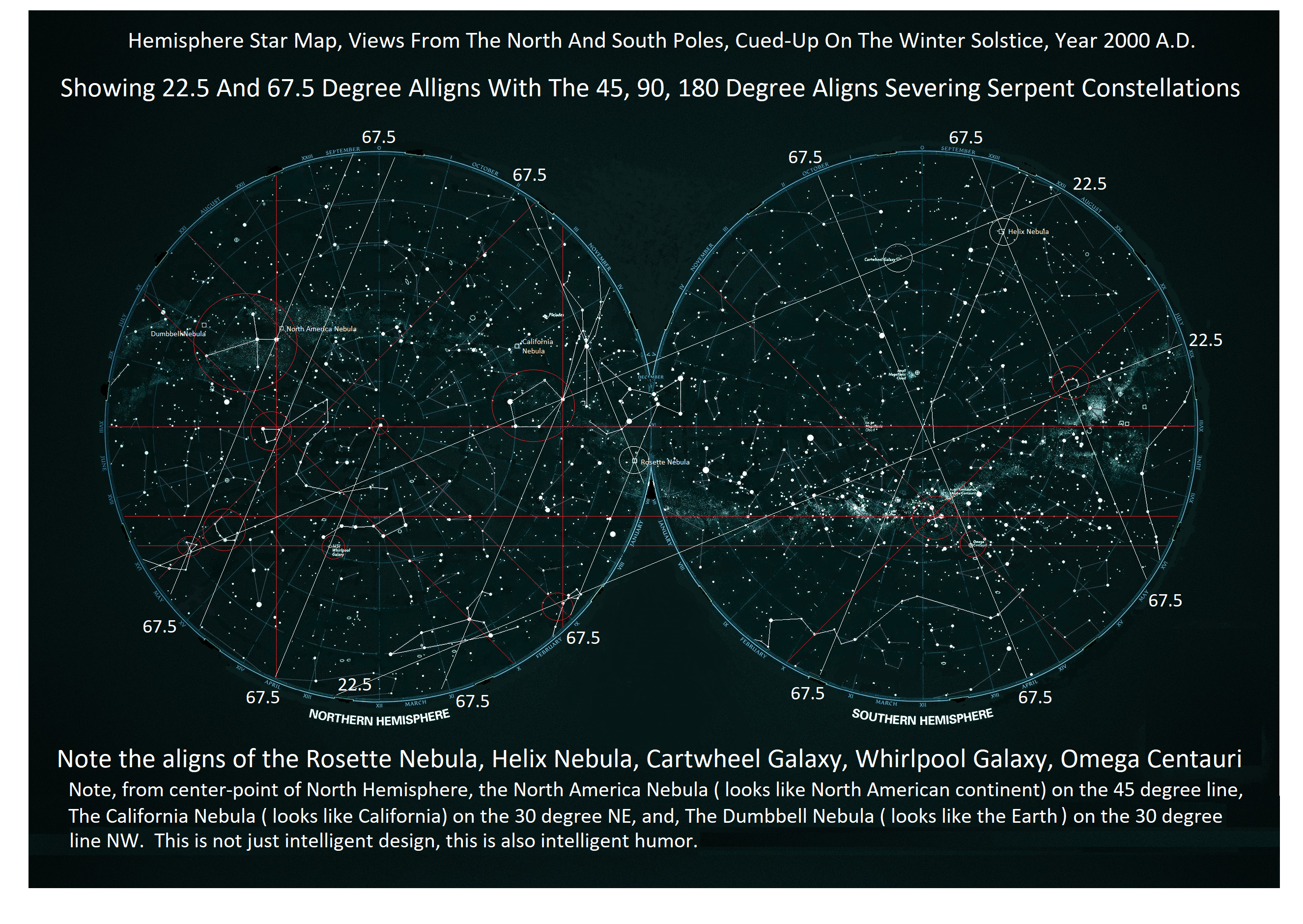 Hemisphere Star Map 22 and 67 page