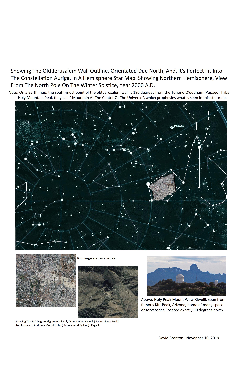 Tohono Jerusalem star map post