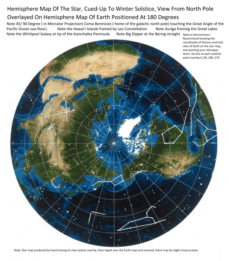 Star Earth map 180 degrees